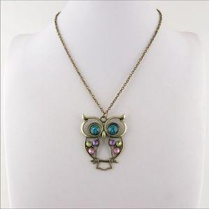 Owl Pendant Necklace 🦉